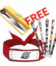 Naruto Kakashi Sasuke Headband One Naruto Ninja Knife + one Naruto Lanyard Free