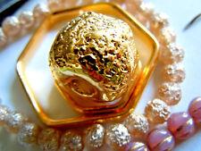 "Sehr grosse 24 Karat vergoldete ""Ferrero Rocher""-Perlen -ca.24x20mm -aus Keramik"