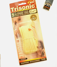 TRISONIC 25 FT DOUBLE JACK EXTENSION CORD IVORY - Telephone accessories / Cables