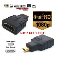 HDMI Hembra a Micro TIPO DE D adaptador macho F/M Convertidor conecter HD TV