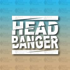 "HEAD BANGER Rave edm dubstep electronic techno Music 5"" Custom Vinyl Decal"