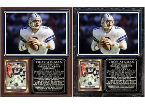 Troy Aikman #8 Dallas Cowboys Photo Card Plaque