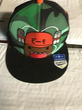 Domo Face Japanese Animated Drink Can Hat Flat Bill New With Tags