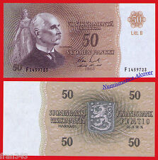 FINLANDIA FINLAND 50 markkaa 1963 Litt. B Pick 107  SC /  UNC