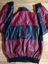 Ferrari 90's Vintage Mens Leather Bomber Jacket Varsity F1 Team Formula Racing