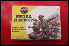 Vintage Airfix Military Series WWII U.S. Paratroops 1:32 Scale Poly Figures