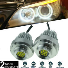 2x LED Angel Eyes 80W LED Halo Rings Headlight Bulbs For E60 E61 LCI 2007-2010