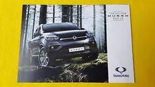 Ssangyong Musso EX Rhino Saracen pick-up brochure sales catalogue MINT 2018