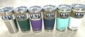 Yeti Rambler 20 oz Tumbler 100% Authentic Magslider Lid Choose Your Color