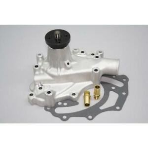 PRW Water Pump 1435100; Satin Aluminum Mechanical for Ford 351C, 351M/400