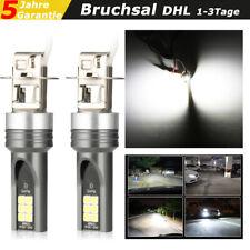 2x H3 LED Nebel Scheinwerfer Auto 55W SMD CSP 6000K Xenon Weiß Lampen Birnen Kit