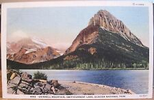 Montana Postcard GRINNELL MOUNTAIN Swiftcurrent Lake Glacier National Park Linen