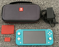 Nintendo Switch Lite - Turquoise (with Hard Case And 4 Slot Game Cartridge Case)
