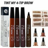 1Ps Microblading Eyebrow Pen Waterproof Fork Tip Tattoo Long Last Eyebrow Pencil
