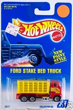Hot Wheels No. 237 Ford Stake Bed Truck Red w/7SP's New On Card 1997