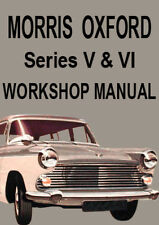 MORRIS OXFORD Series V & VI WORKSHOP MANUAL: 1959-1971
