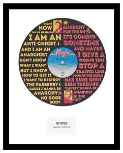 SEX PISTOLS - MEMORABILIA - ANARCHY IN THE UK - Vinyl Record Art - Ideal Gift