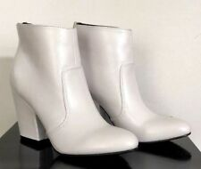 New G by Guess Ankle Boot Women's Leather Size 6 M White