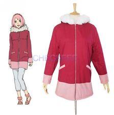 Naruto The movie The last-Sakura Haruno Winter Coat Anime Cosplay Costume