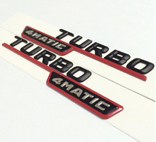 Black Turbo 4MATIC Side Decal Badge Sticker Mercedes-Benz A200 A250 A45 AMG NEW