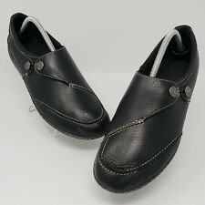 Clarks Collection Soft Cushioning Women's Black Slip on Clogs Shoes Sz 11 22545