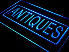 i419-b Antiques Shop Display OPEN NEW Neon Light Sign