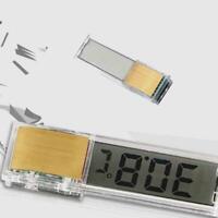 1pc LCD 3D Crystal Digital Measurement Fish Tank Reptile Thermometer T4G7