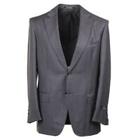 D'Avenza Handmade Gray Stripe Super 150s Wool Suit 40R (Eu 50) Two-Button
