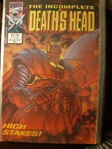 The Incomplete Death's Head #4 of 12 Rare Apr 1992 Marvel Uk with Death's Head 2