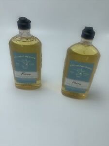 2lot BATH & BODY WORKS AROMATHERAPY FOCUS EUCALYPTUS TEA BODY WASH & FOAM BATH