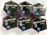 Monster-High-Minis-Series-1-LOT-OF 6 Mini-Figures-Blind-Packs-Sealed