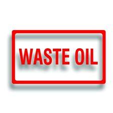 Decals Labels Safety Truck Motor Drum Fuel WASTE OIL Vinyl Stickers Pair
