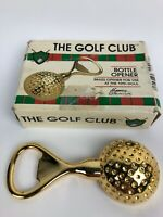 """Heavy Solid """"The Golf Club"""" Vintage Brass Golf Ball 4"""" Beer Bottle Opener"""