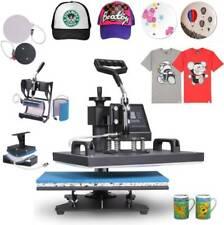 Heat Press 8 in 1 Heat Press Machine 38x30cm T-Shirt Press Mug Printing Machine
