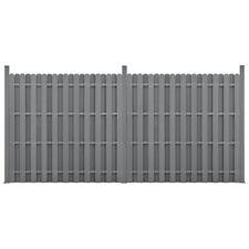 neu.holz WPC Gartenzaun Sichtschutz Windschutz Lamellenzaun Zaun 376x185cm Grau