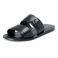 Salvatore Ferragamo Men's FILICUDI Leather Flip Flop Shoes US 8EE IT 41EE