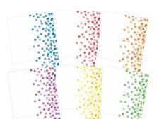 "6 Single Fold Hunkydory Confetti Dots Card Blanks & White Env 6"" x 6"" NEW"