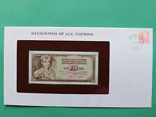 Yugoslavia 10 Dinar Franklin Mint Banknote Cover SNo46202