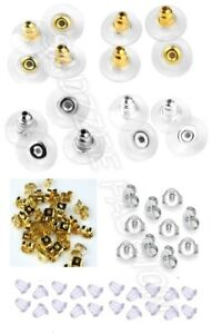 Silicone, Butterfly, Metal, Earring Backs Stoppers Caps Soft Clear Uk Seller