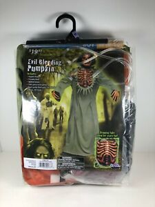 Evil Bleeding Pumpkin Boys Costume Size Medium 8-10