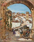 Painting Barbosa The City Of Granada Spain Xxl Wall Canvas Art Print