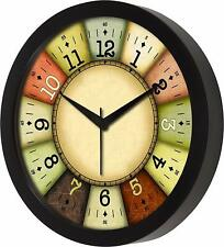 Multi color Designer Wall Clock for Home Living Room Bedroom Kitchen