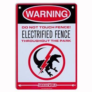 Jurassic Park World Metal Keep Out Door Sign Plate Warning Dinosaur T-Rex COOL!