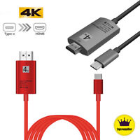 Type C USB-C To 4K HDMI Cable AV HDTV Adapter For Samsung Galaxy S9+ S8+ Macbook