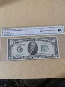 1934-C $10 DOLLAR BILL FEDERAL RESERVE NOTE
