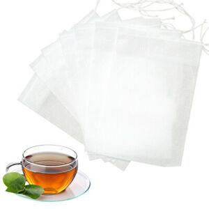 100 Pack Teabags Empty Tea Filter Bags Biodegradable For Loose Leaf Tea Spice 6