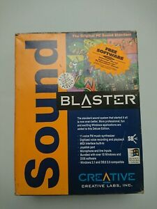 Sound Blaster deluxe sound card, boxed, ISA bus