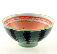 "2 PCS. Japanese 4-1/8""D Watermelon Porcelain Children Rice Bowls, Made in Japan"