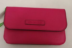 Vera Bradley Faux Leather Snap & Zip Case Fuchsia  NWT