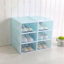 Transparent Plastic Shoe Organizer Door Flip Thicken Drawer Shoes Storage Box